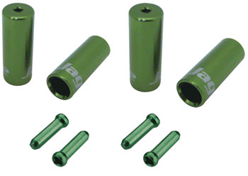 Jagwire End Cap Hop-Up Kit 4.5mm Shift and 5mm Brake, Cash Green