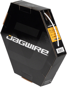 Jagwire 5mm Sport Brake Housing with Slick-Lube Liner 50M File Box, White
