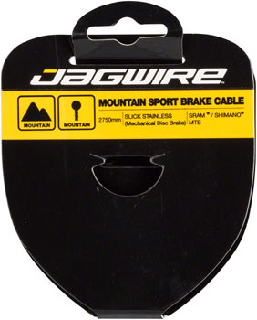 Jagwire Sport Brake Cable Slick Stainless 1.5x2750mm SRAM/Shimano Mountain Tandem