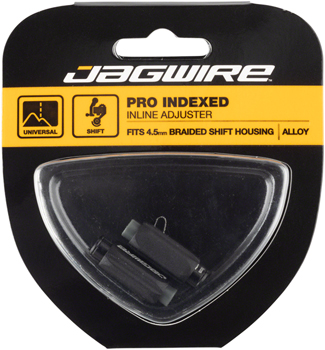 Jagwire Pro 4.5mm Indexed Inline Cable Tension Adjusters Pair For Braided Shift Housingx Black