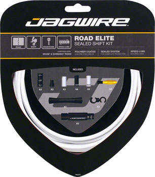 Jagwire Road Elite Sealed Shift Cable Kit, White