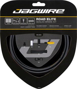 Jagwire Road Elite Sealed Brake Cable Kit, Black