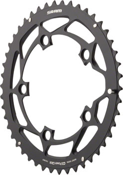 SRAM 46T 110mm 10-Speed Chainring for GXP Black, Long Chain Retention Pin, Use With 36 Tooth Inner Ring