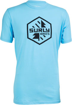 Surly Split Season Men's T-Shirt: Blue XL
