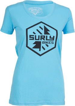 Surly Split Season Women's T-Shirt: Blue SM