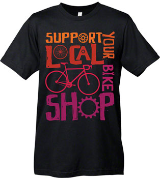 Mechanical Threads Support Your Local Shop T-Shirt: Black~ SM