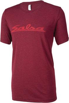 Salsa Logo Men's T-Shirt: Burgundy SM