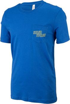 Salsa Logo Pocket Men's T-Shirt: Bright Blue LG