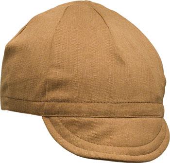 Pace Sportswear Euro Soft Bill Cycling Cap: Nutmeg, MD/LG