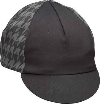 Pace Sportswear Traditional Cycling Cap: Mini Houndstooth Black/Gray