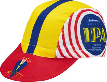 World Jerseys Moab Brewery Johnny's IPA Cycling Cap: White/Yellow/Red
