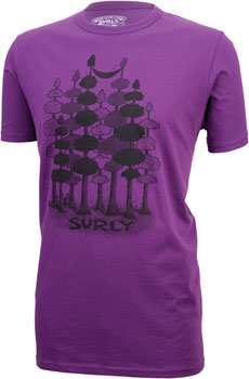 Surly Sacked Men's T-Shirt: Purple MD