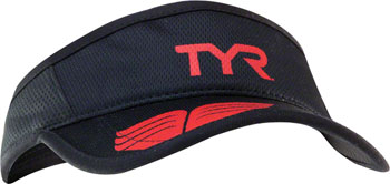 TYR Competitor Running Visor: Black/Red One Size
