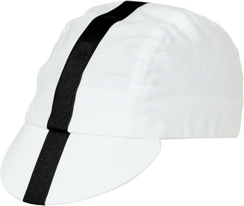 d4fa345ef1c Pace Sportswear Classic Cycling Cap  White with Black Tape