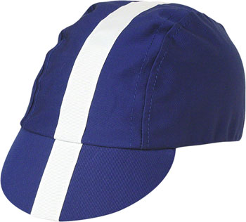 Pace Sportswear Classic Cycling Cap: Royal Blue with White Tape, MD/LG