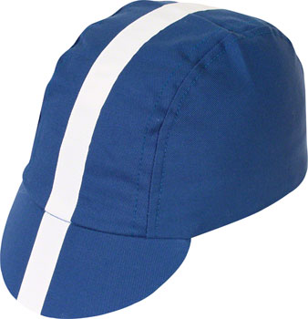 Pace Sportswear Classic Cycling Cap: Royal Blue with White Tapeë_XL