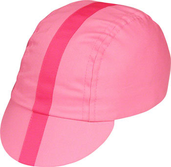 Pace Sportswear Classic Cycling Cap: Pink with Pink Tape, SM