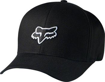 Fox Racing Legacy Flexfit Hat: Black SM/MD