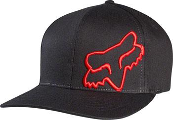 Fox Racing Flex 45 Flexfit Hat: Black/Red SM/MD