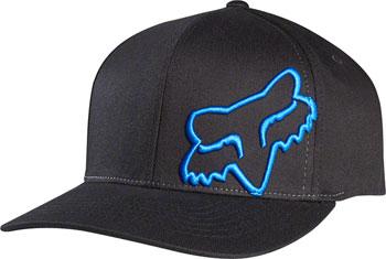 Fox Racing Flex 45 Flexfit Hat: Black/Blue SM/MD