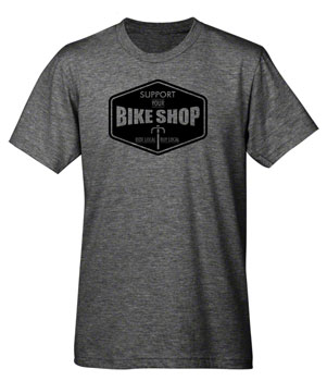 Mechanical Threads Support Your Local Bike Shop 2 T-Shirt: Gray MD