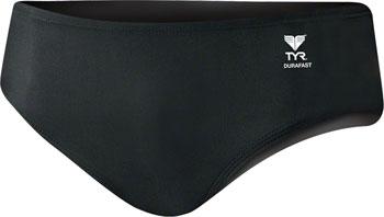 TYR Racer Men's Swimsuit: Black 30