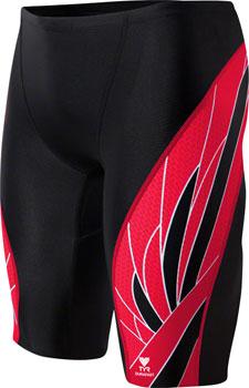 TYR Phoenix Splice Jammer Men's Swimsuit: Black/Red 30