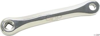 Sugino MS 170mm Left Low Profile Square Taper Crank Arm: Silver