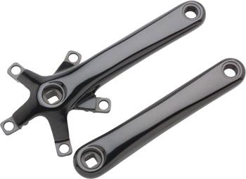 Dimension 110 Crank Arm Set, 110/74ë_BCD,ë_175ë_mmë_Black, Includes Bolts