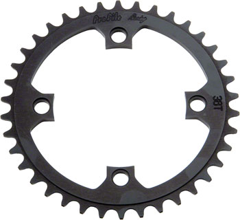 Profile Racing 4-bolt 104mm Chainring, 39t Black