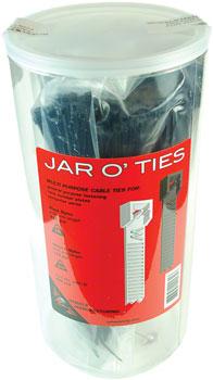 Wheels Manufacturing Zip Ties: Black 600 pieces with POP Jar