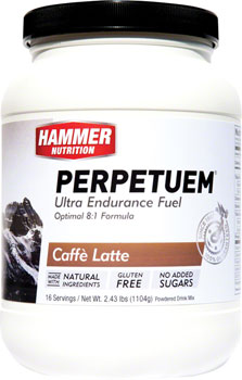 Hammer Perpetuem: Cafe Latte (with caffeine) 16 Servings