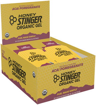 Honey Stinger Organic Energy Gel: Acai and Pomegranate, Box of 24