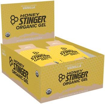 Honey Stinger Organic Energy Gel: Vanilla, Box of 24