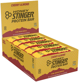 Honey Stinger 10g Protein Bar: Chocolate Cherry Almond, Box of 15