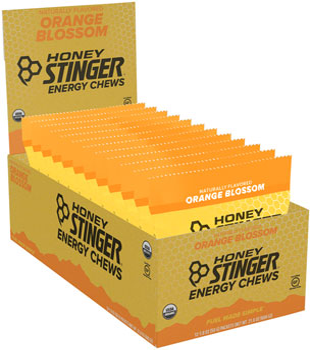 Honey Stinger Organic Energy Chews: Orange, Box of 12