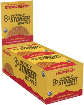 Honey Stinger Organic Waffle: Strawberry, Box of 16