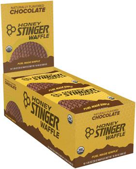Honey Stinger Organic Waffle: Chocolate, Box of 16