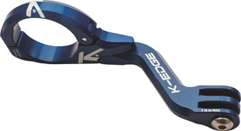 K-EDGE Go Big Pro Universal Action Camera and Light On-Center Handlebar Mount 31.8mm: Blue