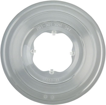 Freehub Spoke Protector 28-34 Tooth, 4 Hook, 32 Hole Clear Plastic