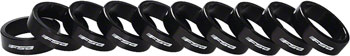 FSA Bag of 10 1-1/8x10mm Headset Spacers Black Alloy with Logo