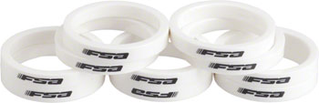 FSA Polycarbonate Headset Spacers 1 1/8 x 5mm 10 pcs White