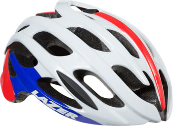 Lazer Blade Helmet: Red/White/Blue LG