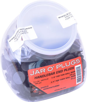 Wheels Manufacturing Jar O' Plugs: 150 Total (120 for Thinwall and 30 for Thickwall Handlebars)
