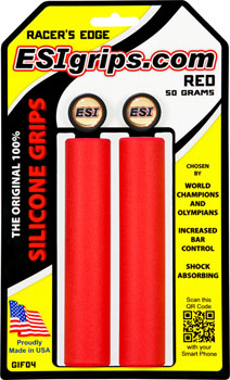 ESI 30mm Racer's Edge Silicone Grips: Red