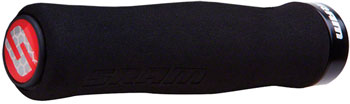 SRAM Locking Foam Contour Grips Black with Single Black Clamp and End Plugs