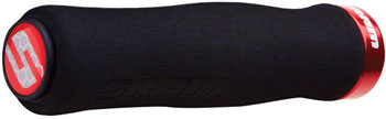 SRAM Locking Foam Contour Grips Black with Single Red Clamp and End Plugs