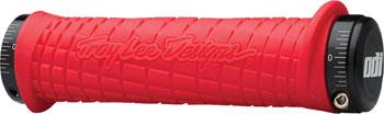 ODI 130mm Troy Lee Lock-On Grips: Red/Black