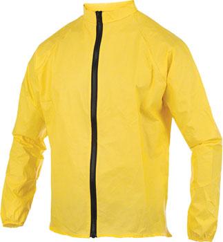 O2 Rainwear Cycling Rain Jacket: Yellow LG