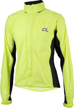 O2 Rainwear Primary Rain Jacket with built-in Hood: Hi-Vis Yellow SM